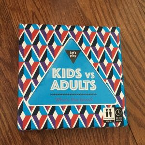 Kids vs adults Trivia game cards new